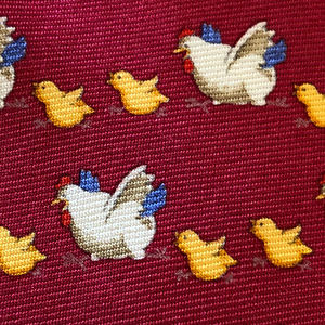 Brooks Brothers Chicken Baby Chick Neck Tie Animal